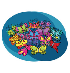 butterflies design set vector image vector image