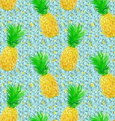 low poly pineapple pattern on ice vector image