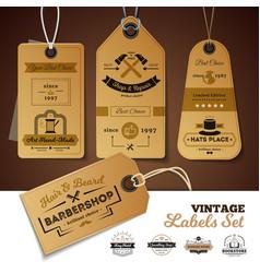 shops vintage labels set vector image