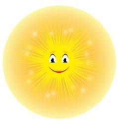 a cute yellow cartoon sun vector image