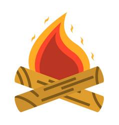 campfire bonfire icon tourism equipment vector image