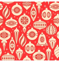 Christmas ornaments pattern vector
