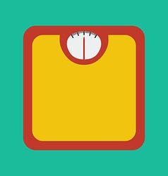 Flat Icon of Bathroom Scale vector image