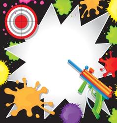 Paintball Birthday Invitation vector image vector image