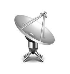 satellite dish isolated on white vector image