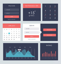 ui kit for website and mobile app vector image vector image