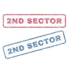 2nd sector textile stamps vector