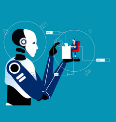 4th industrial revolution new technology concept vector