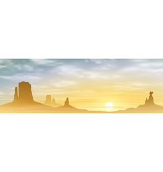 A Desert Landscape vector