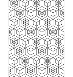 Abstract geometric seamless pattern with cubes vector