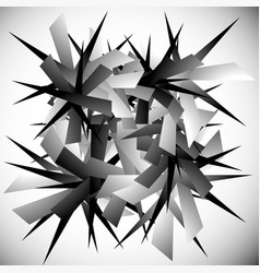 Abstract graphic with pointed random scattered vector