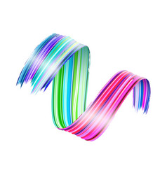 Abstract paint brush stroke colorful curl vector