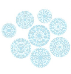 abstract snowflakes background of snow Christmas vector image