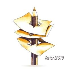 Abstract watercolor pencil vector