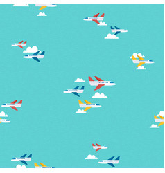 air plane sky travel pattern background art vector image