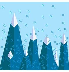 Altitude sickness mountain oxygen vector