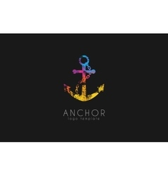 Anchor logo Rainbow logo Company logo Colorful vector image