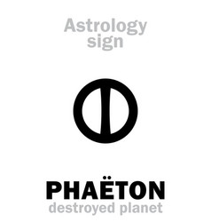 Astrology destroyed planet pha vector