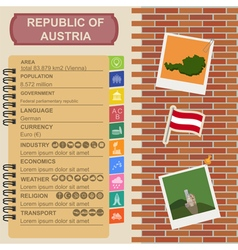 Austria infographics statistical data sights vector