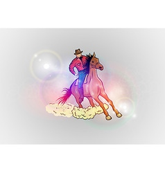 Background abstract with horse western vector