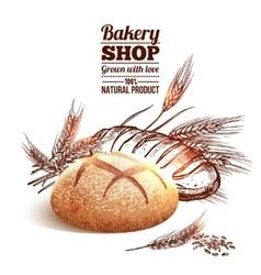 Bakery Sketch Concept vector