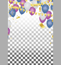 balloons abstract background celebration gold vector image