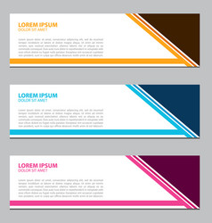 banner design for business vector image