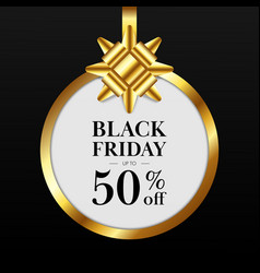 black friday sale promotion concept banner and vector image