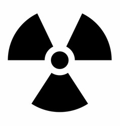 Black radiation sign vector
