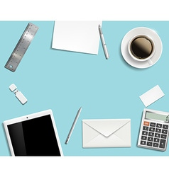 Blank office desk background vector image