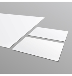 Blank stationery layout A4 paper business card vector image