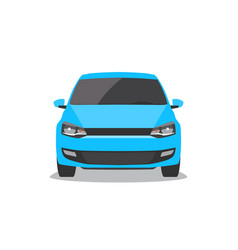 blue car front view vector image vector image