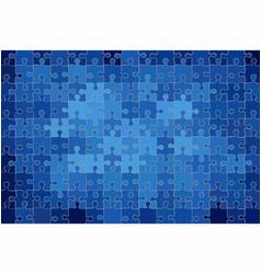 Blue grunge puzzle background vector