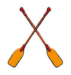 boat oars icon imag vector image
