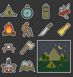 camping equipment icon vector image