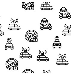 car theft seamless pattern vector image