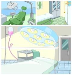 cartoon set of medical backgrounds vector image