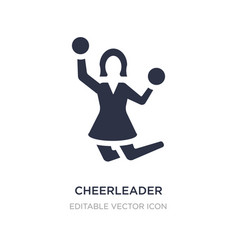Cheerleader icon on white background simple vector