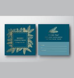 christmas abstract greeting gift card vector image