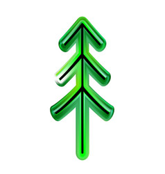 Christmas tree of green happy new year from vector