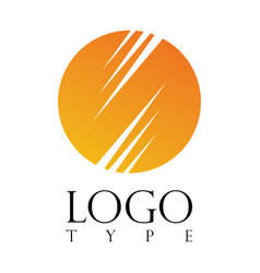 circle stripe logo vector image