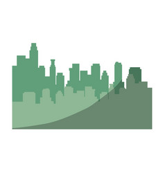 city view silhouette vector image