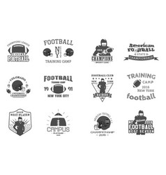 college rugand american football team campus vector image