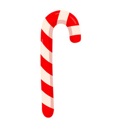 Colorful cute long striped candy stick on white vector