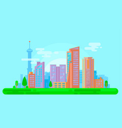 Colorful urban cityscape vector