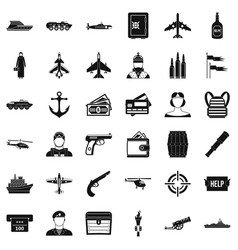 Combat target icons set simple style vector