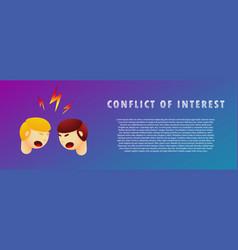 Conflict of interest flat gradient vector