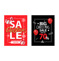 cover with info about xmas and new year discounts vector image