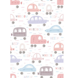 Cute delicate childish pattern with hand drawn vector
