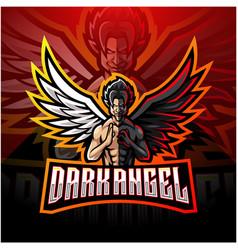 dark angel esport mascot logo design vector image